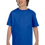 Gildan Youth DryBlend Moisture Wicking Short Sleeve Crewneck T-Shirt - Royal Blue