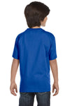 Gildan G800B Youth DryBlend Moisture Wicking Short Sleeve Crewneck T-Shirt Royal Blue Back