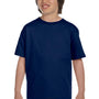 Gildan Youth DryBlend Moisture Wicking Short Sleeve Crewneck T-Shirt - Navy Blue