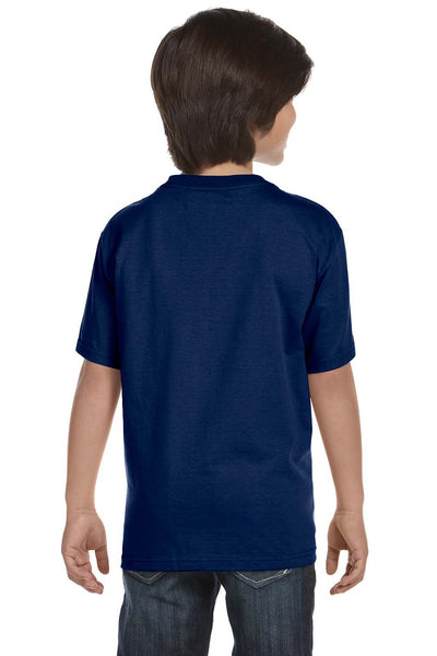 Gildan G800B Youth DryBlend Moisture Wicking Short Sleeve Crewneck T-Shirt Navy Blue Back