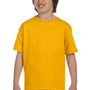 Gildan Youth DryBlend Moisture Wicking Short Sleeve Crewneck T-Shirt - Gold
