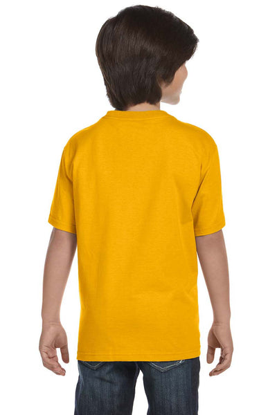 Gildan G800B Youth DryBlend Moisture Wicking Short Sleeve Crewneck T-Shirt Gold Back