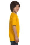 Gildan G800B Youth DryBlend Moisture Wicking Short Sleeve Crewneck T-Shirt Gold Side