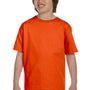 Gildan Youth DryBlend Moisture Wicking Short Sleeve Crewneck T-Shirt - Orange