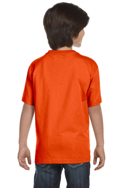 Gildan G800B Youth DryBlend Moisture Wicking Short Sleeve Crewneck T-Shirt Orange Back