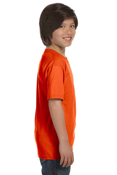 Gildan G800B Youth DryBlend Moisture Wicking Short Sleeve Crewneck T-Shirt Orange Side