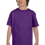 Gildan Youth DryBlend Moisture Wicking Short Sleeve Crewneck T-Shirt - Purple