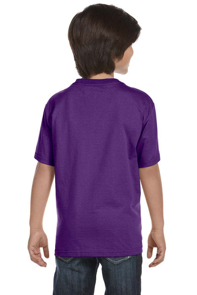 Gildan G800B Youth DryBlend Moisture Wicking Short Sleeve Crewneck T-Shirt Purple Back