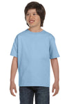 Gildan G800B Youth DryBlend Moisture Wicking Short Sleeve Crewneck T-Shirt Light Blue Front