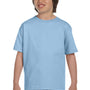 Gildan Youth DryBlend Moisture Wicking Short Sleeve Crewneck T-Shirt - Light Blue