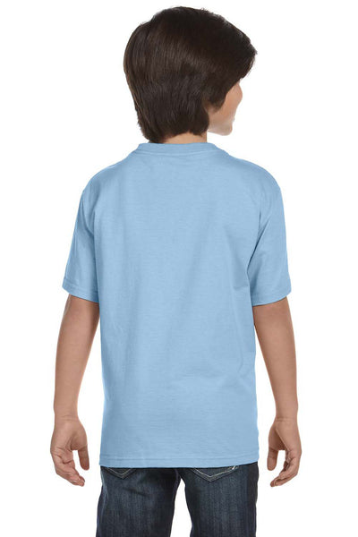 Gildan G800B Youth DryBlend Moisture Wicking Short Sleeve Crewneck T-Shirt Light Blue Back