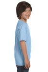 Gildan G800B Youth DryBlend Moisture Wicking Short Sleeve Crewneck T-Shirt Light Blue Side