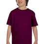 Gildan Youth DryBlend Moisture Wicking Short Sleeve Crewneck T-Shirt - Maroon