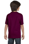 Gildan G800B Youth DryBlend Moisture Wicking Short Sleeve Crewneck T-Shirt Maroon Back