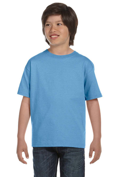 Gildan G800B Youth DryBlend Moisture Wicking Short Sleeve Crewneck T-Shirt Carolina Blue Front