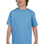 Gildan Youth DryBlend Moisture Wicking Short Sleeve Crewneck T-Shirt - Carolina Blue