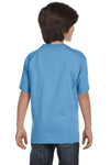 Gildan G800B Youth DryBlend Moisture Wicking Short Sleeve Crewneck T-Shirt Carolina Blue Back