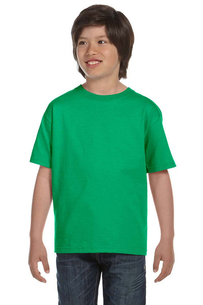 Gildan G800B Youth DryBlend Moisture Wicking Short Sleeve Crewneck T-Shirt Irish Green Front
