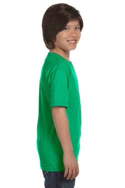 Gildan G800B Youth DryBlend Moisture Wicking Short Sleeve Crewneck T-Shirt Irish Green Side