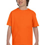 Gildan Youth DryBlend Moisture Wicking Short Sleeve Crewneck T-Shirt - Safety Orange