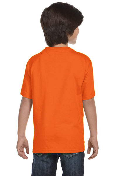 Gildan G800B Youth DryBlend Moisture Wicking Short Sleeve Crewneck T-Shirt Safety Orange Back