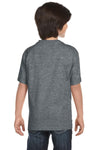 Gildan G800B Youth DryBlend Moisture Wicking Short Sleeve Crewneck T-Shirt Heather Graphite Grey Back