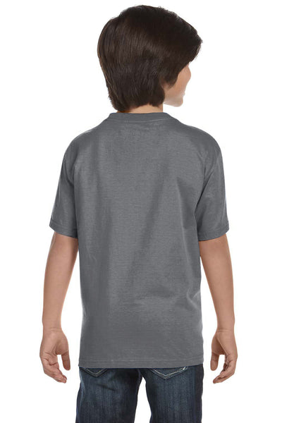 Gildan G800B Youth DryBlend Moisture Wicking Short Sleeve Crewneck T-Shirt Gravel Grey Back