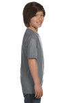 Gildan G800B Youth DryBlend Moisture Wicking Short Sleeve Crewneck T-Shirt Gravel Grey Side