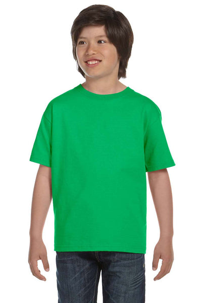 Gildan G800B Youth DryBlend Moisture Wicking Short Sleeve Crewneck T-Shirt Electric Green Front
