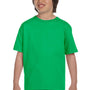 Gildan Youth DryBlend Moisture Wicking Short Sleeve Crewneck T-Shirt - Electric Green