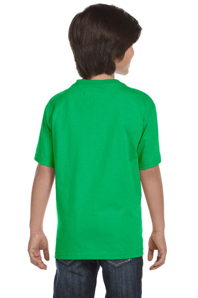 Gildan G800B Youth DryBlend Moisture Wicking Short Sleeve Crewneck T-Shirt Electric Green Back