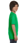 Gildan G800B Youth DryBlend Moisture Wicking Short Sleeve Crewneck T-Shirt Electric Green Side