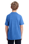 Gildan G800B Youth DryBlend Moisture Wicking Short Sleeve Crewneck T-Shirt Heather Royal Blue Back