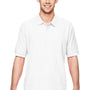 Gildan Mens Short Sleeve Polo Shirt - White