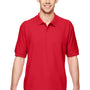 Gildan Mens Short Sleeve Polo Shirt - Red