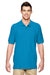 Gildan G828 Mens Short Sleeve Polo Shirt Sapphire Blue Front
