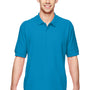 Gildan Mens Short Sleeve Polo Shirt - Sapphire Blue
