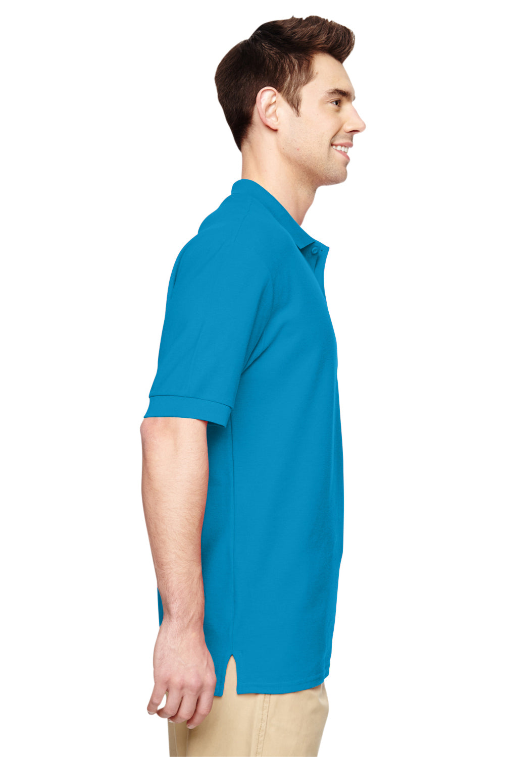 Gildan G828 Mens Short Sleeve Polo Shirt Sapphire Blue Side
