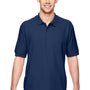 Gildan Mens Short Sleeve Polo Shirt - Navy Blue