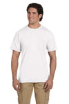 Gildan G830 Mens DryBlend Moisture Wicking Short Sleeve Crewneck T-Shirt w/ Pocket White Front