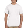 Gildan Mens DryBlend Moisture Wicking Short Sleeve Crewneck T-Shirt w/ Pocket - White