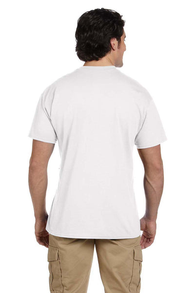 Gildan G830 Mens DryBlend Moisture Wicking Short Sleeve Crewneck T-Shirt w/ Pocket White Back