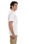 Gildan G830 Mens DryBlend Moisture Wicking Short Sleeve Crewneck T-Shirt w/ Pocket White Side