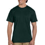 Gildan Mens DryBlend Moisture Wicking Short Sleeve Crewneck T-Shirt w/ Pocket - Forest Green