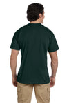 Gildan G830 Mens DryBlend Moisture Wicking Short Sleeve Crewneck T-Shirt w/ Pocket Forest Green Back