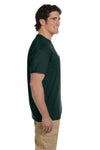 Gildan G830 Mens DryBlend Moisture Wicking Short Sleeve Crewneck T-Shirt w/ Pocket Forest Green Side