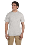Gildan G830 Mens DryBlend Moisture Wicking Short Sleeve Crewneck T-Shirt w/ Pocket Ash Grey Front