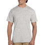 Gildan Mens DryBlend Moisture Wicking Short Sleeve Crewneck T-Shirt w/ Pocket - Ash Grey