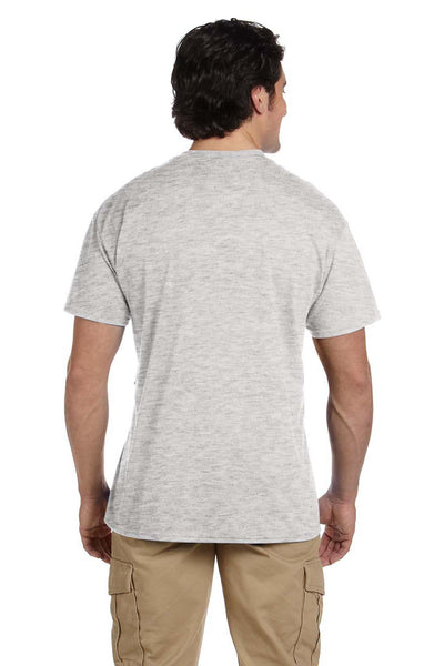 Gildan G830 Mens DryBlend Moisture Wicking Short Sleeve Crewneck T-Shirt w/ Pocket Ash Grey Back