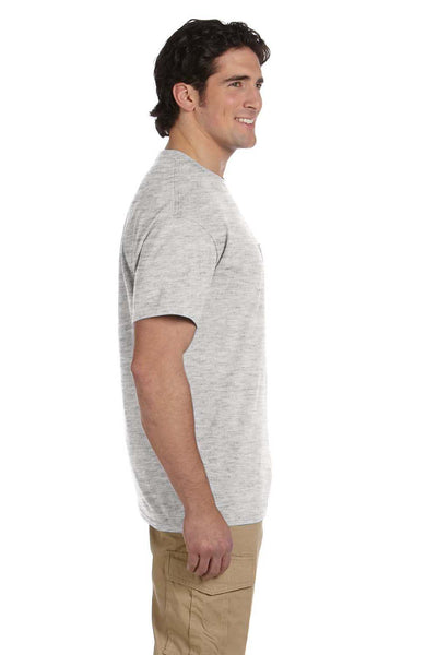 Gildan G830 Mens DryBlend Moisture Wicking Short Sleeve Crewneck T-Shirt w/ Pocket Ash Grey Side